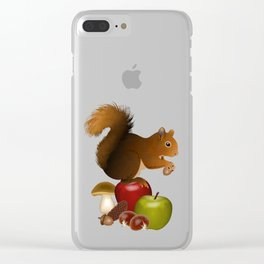 Hello Autumn! Clear iPhone Case
