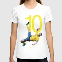 zlatan T-shirts featuring Zlatan Ibrahimović Sweden Bicycle Kick Print by graphics17