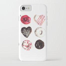 Assorted Donuts Valentine's Day Krispy Kreme Sprinkles Hearts iPhone Case