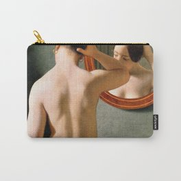 13,000px,600dpi-Christoffer Wilhelm Eckersberg - A nude woman doing her hair before a mirror - Digital Remastered Edition Carry-All Pouch