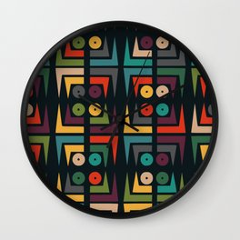 Color jukebox pattern Wall Clock