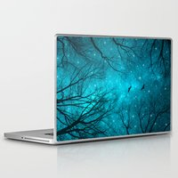 gray Laptop & iPad Skins featuring Stars Can't Shine Without Darkness  by soaring anchor designs