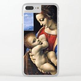 Leonardo Da Vinci - Madonna Litta . Madonna and the child . Clear iPhone Case