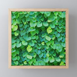 Green leaves pattern Framed Mini Art Print