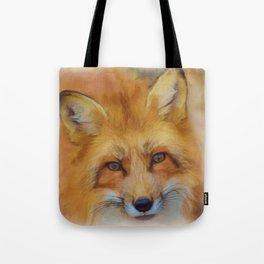 Beautiful Fox Face Watercolour Tote Bag