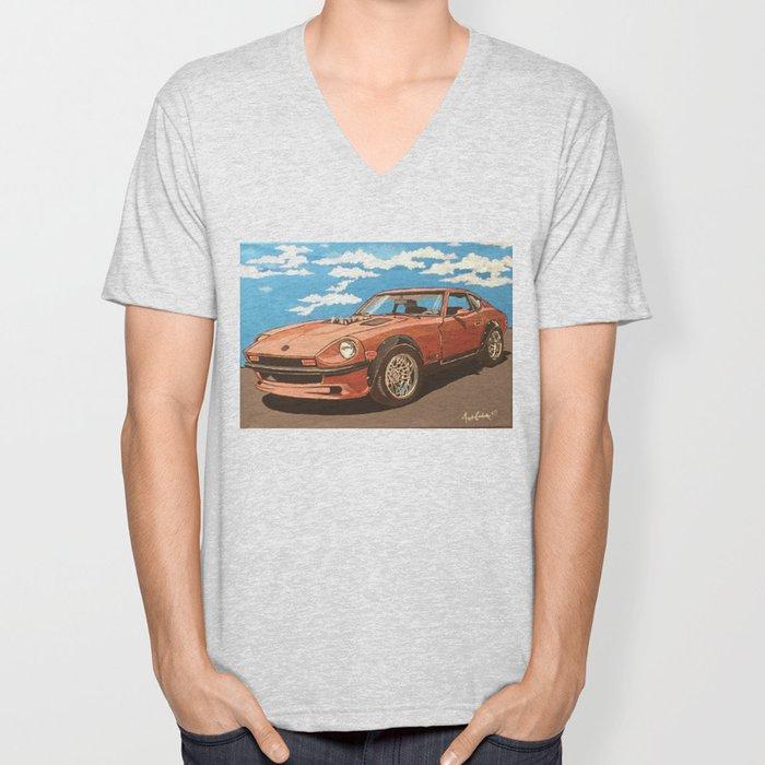 Datsun 280z power tour Unisex V-Neck
