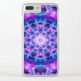 Angelic Gateway Mandala Clear iPhone Case