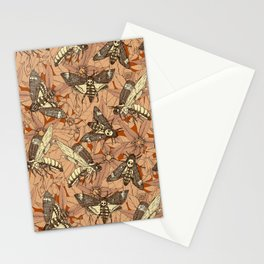 Death's-head hawkmoth rust Stationery Cards
