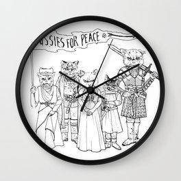 Ladies of the Throne by Garrett Vander Leun Wall Clock