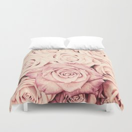 Some people grumble I Floral rose roses flowers pink Duvet Cover