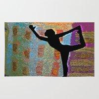 yoga Area & Throw Rugs featuring Yoga by Vicki Lynn Rae