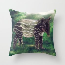 Tapir Throw Pillow