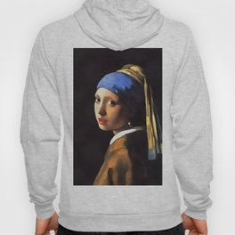 Girl with a Pearl Earring After Johannes Vermeer Hoody