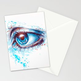 Deep Blue Eyes Stationery Cards