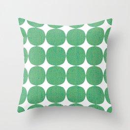 White Starburst on Green Throw Pillow