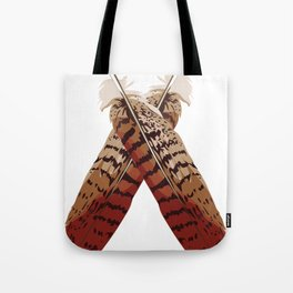 Redtail Hawk Feathers Tote Bag