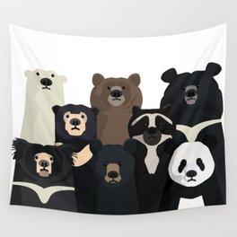 Bear family portrait Wall Tapestry