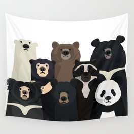 Bear family portrait Wall Tapestry