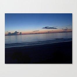 Before Sunrise View From Hotel Balcony at Daytona Beach, Florida Canvas Print