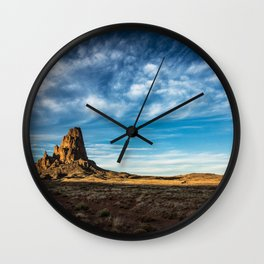 Somewhere In Time - Western Scenery of Agaltha Peak in Northern Arizona Wall Clock