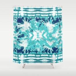 Shibori Beach Aqua Shower Curtain
