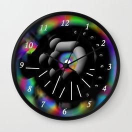 Circle and Rainbow Wall Clock