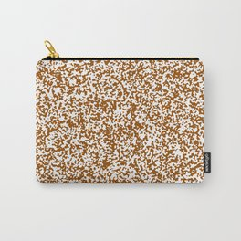 Tiny Spots - White and Brown Carry-All Pouch