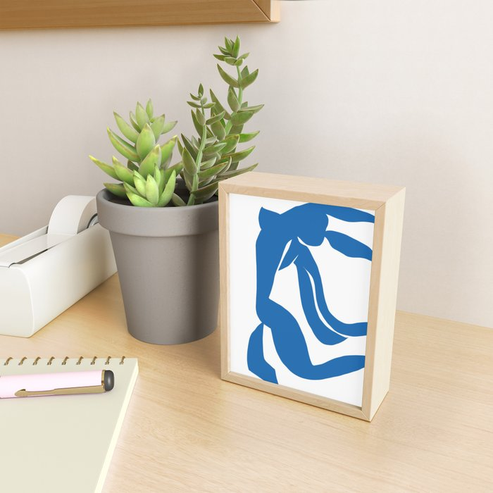 Matisse Cut Out Figure #4 Light Blue Framed Mini Art Print