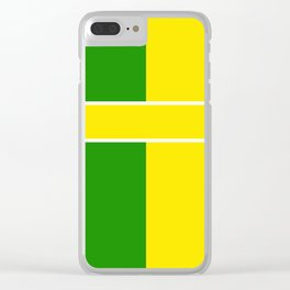Team Colors 6...Yellow,green Clear iPhone Case