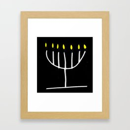 menorah,Hanukkah,jewish,jew,judaism,Festival ofLights,Dedication,jerusalem,lampstand,Temple Framed Art Print