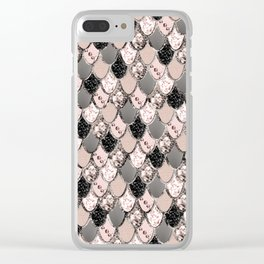 Rose Gold Blush Mermaid Princess Glitter Scales #1 #shiny #decor #art #society6 Clear iPhone Case