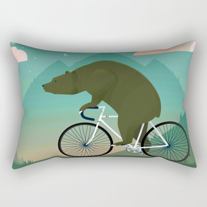 Bear Rider Rectangular Pillow