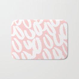 Pink Brush style pattern Bath Mat