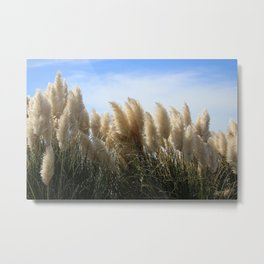 Bushes with sky on background Metal Print