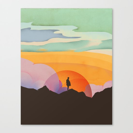I Like to Watch the Sun Come Up Canvas Print