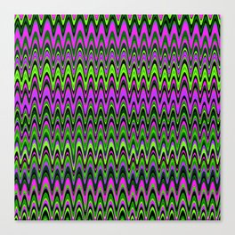 Making Waves Neon Lights Canvas Print