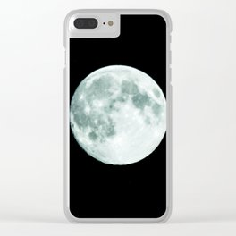 just moon Clear iPhone Case