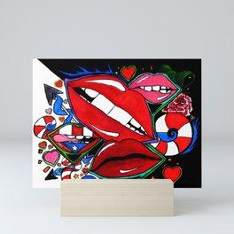 Luscious  Lips Mini Art Print