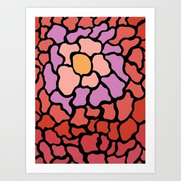 abstract shades of red and pink Art Print