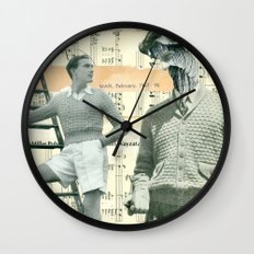 Spinning Yarns Wall Clock