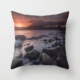 Elgol Beach V Throw Pillow