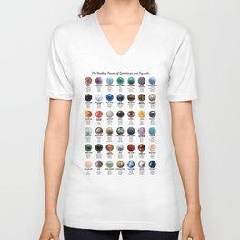 Gemstones And Crystals Unisex V-Neck