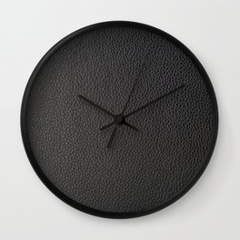 Black faux leather Wall Clock