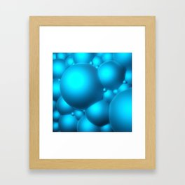 Blue Bubbles Framed Art Print