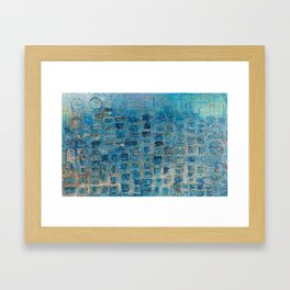 The windows of happiness Framed Art Print