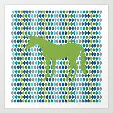 Greenery Unicorn V02 Art Print