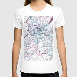 Louisville map T-shirt