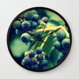 Blackberries Wall Clock