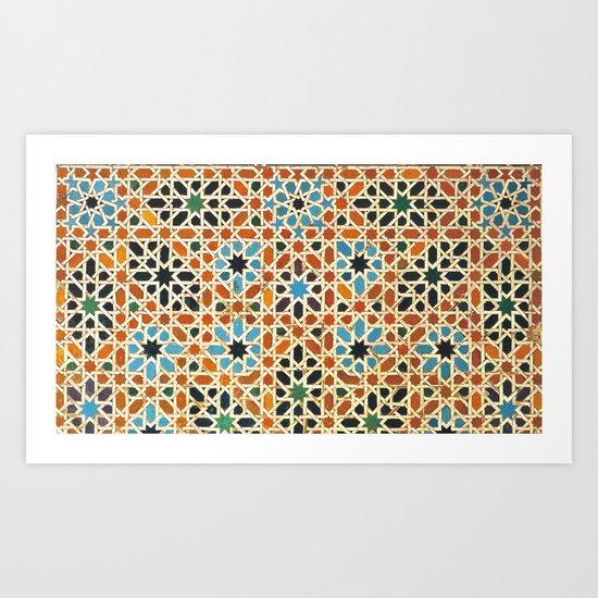Details of Lindaraja in the Alhambra Art Print