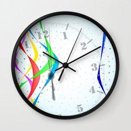 Midnight Celebration Wall Clock